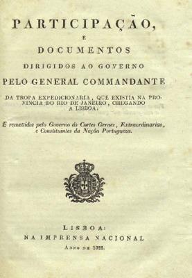 Participação, e documentos dirigidos ao governo pelo gener ...