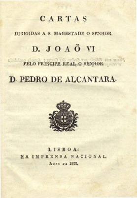 Cartas dirigidas a S. Magestade o senhor D. João VI