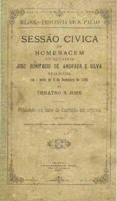 Sessão civica em homenagem ao senador José Bonifacio de An ...