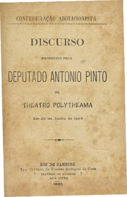 Discurso proferido pelo Deputado Antonio Pinto no Theatro  ...