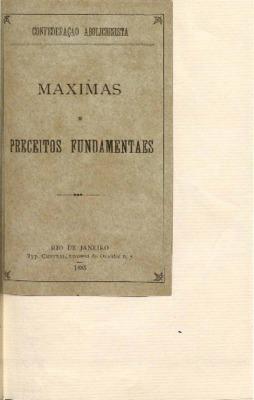 Maximas e preceitos fundamentaes