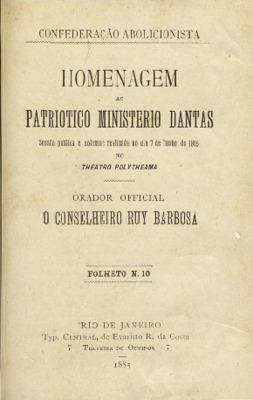 Homenagem ao patriotico Ministerio Dantas : sessão publica ...