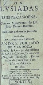 Os Lusiadas, Impressas em Lisboa, 1663