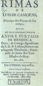 Rimas, Em Lisboa impressas, 1663