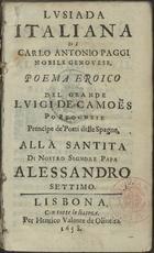 Lusiada italiana: alla Santita di Nostro Signore Papa Ales ...