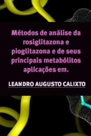 Métodos de análise da rosiglitazona e pioglitazona e de se ...