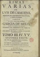 Rimas varias, Lisboa, 1688