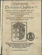 Compendio de doctrina christãa, Em Lixboa, 25 Dabril