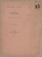 Primeiros versos de Camões: em louvor do Dr. Garcia da Orta,[..]