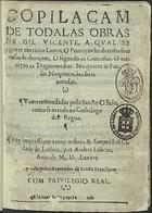 Copilaçam de todalas obras de Gil Vicente a qual se repart ...