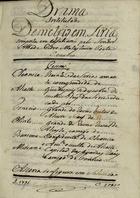 Drama intitulado Demetrio em Siria, 1795