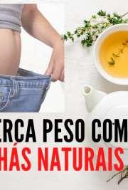 Perca peso com chás naturais