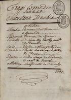 Tragicomedia intitulada A constante Zenobia, 1797