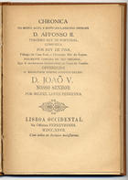 Chronica de El-Rey D. Affonso II ;, Lisboa, 1906
