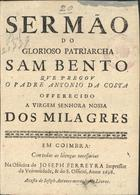 Sermão do glorioso Patriarcha Sam Bento, Em Coimbra, 1698