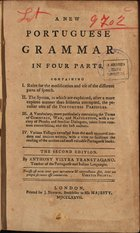A new Portuguese grammar in four parts..., London, 1777