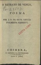 O retrato de Venus: poemas, Coimbra, 1821