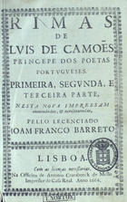 Rimas de Luis de Camoe