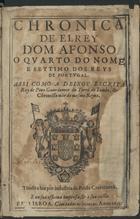 Chronica de el rey Dom Afonso o quarto do nome, e settimo  ...
