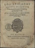 Los Lusiadas, En Madrid, 1591