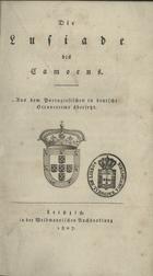 Die Lusiade, Leipzig, 1807