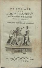 De Lusiade van Louis Camoëns: heldendicht in X Zangen, Te  ...