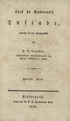 Luis de Camoenss Lusiade, Kjjobenhavn, 1828-1830