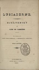 Lusiaderne: hjeltedikt, Stockholm, 1839