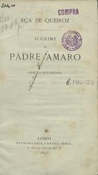 O crime do padre Amaro, Lisboa, 1876