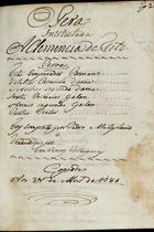 Opera intitulada A clemencia de Tito, 1786 Abr. 21