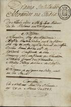 Drama intitulado Alexandre na India, 1783 Mar. 28
