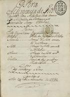 Opera A clemencia de Tito, 1793 Nov. 24
