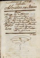 Comedia nova intitulada Alexandre na India, 1797