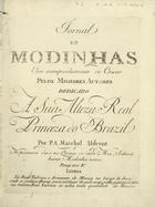 PORTUGAL,Marcos,1762-1830<br/>Duo / del S.r Marcos Antonio. - Lisboa : P. A. Marchal e Milcent,[1792]. - Partitura (2 p.) ; 32 cm. - (Jornal de modinhas ; Ano 1, N.º 3)