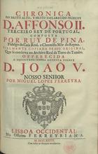 Chronica do... principe D. Affonso II terceiro Rey de Port ...