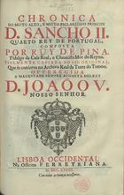 Chronica do... principe D. Sancho II quarto Rey de Portuga ...