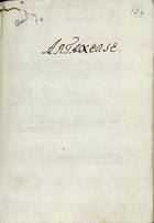 LArtaserse: drama per musica, Lisboa Occidental, 1737