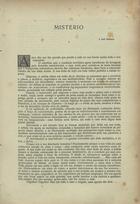CARNEIRO,Mário de Sá,1890-1916<br/>Mistério / Mário de Sá-Carneiro