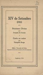 Stoicismo divino por Joaquim de Araújo: carta ao autor, Au ...