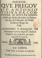 Sermam, que pregou o P. Antonio Vieira... na Misericordia  ...