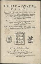 Decada quarta da Asia, dos feitos que os portugueses fizer ...