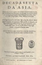 Decada sexta da Asia: dos feitos que os portugueses fizera ...
