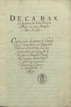 COUTO,Diogo do,1542-1616<br/>Decada. X. da historia da India / feita por Diogo do Couto Chronista Mor da Asia[16--]. - [1], 464, [13] f. ; 30 cm