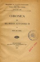 Chronica de El-Rei D. Affonso II, Lisboa, 1906