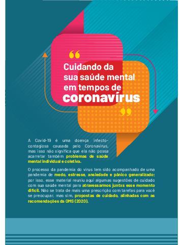 Cuidando da saúde mental - Coronavírus