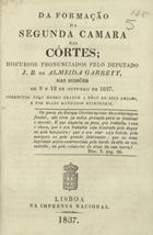 Da formação da segunda Câmara das Côrtes: discursos pronun ...