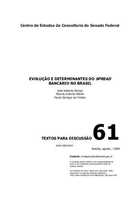 Evolução e determinantes do spread bancário no Brasil