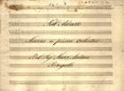 PORTUGAL,Marcos,1762-1830<br/>NellªAdrasto : Marcia a piena orchestra / Del Sig.r Marco Antonio Portugallo[Entre 1800 e 1810]. - Partitura [6 f.] ; 222x304 mm