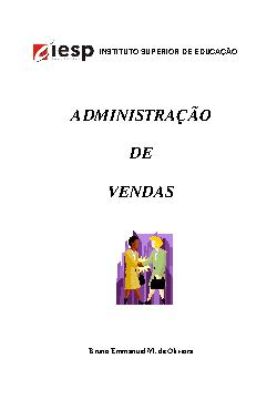 Administração de Vendas e Marketing