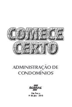 Sebrae - Administração de Condomínio